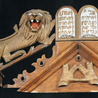 Carved Lions Ark Decoration 2