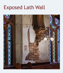 Exposed Lathe Wall