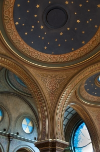 Detail of the starry domes in the Main Sanctuary