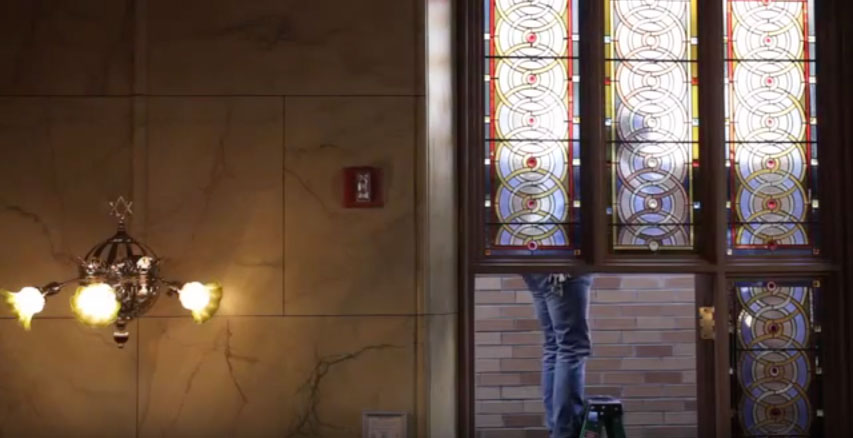 Watch a video on the creation of a stained glass window by Kiki Smith and Deborah Gans. Film by Jenny Carchman. At the Museum at Eldridge Street.