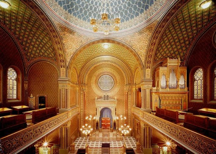Spanish Synagogue Interior, Prague