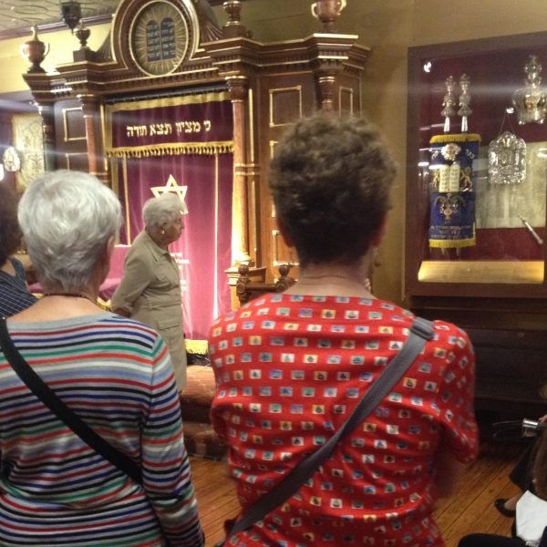 Docents Explore Our New Permanent Exhibition