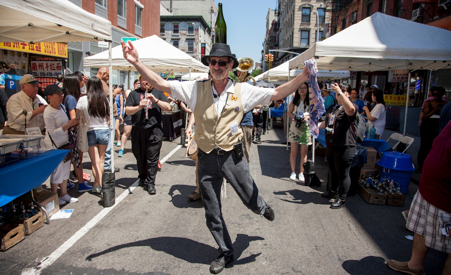 Jewish Bottle Dancer at the Museum's Egg Rolls, Egg Creams & Empanadas Festival