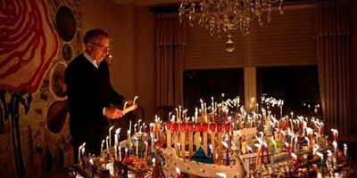 Over 100 Menorahs Light Up the Museum