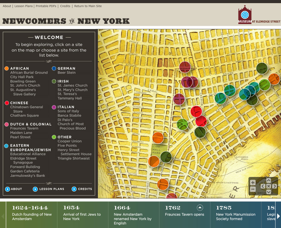 Lower East Side New York Map.Interactive Map Of The Old Lower East Side Museum At Eldridge Street